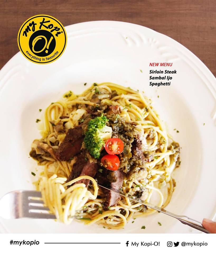 Sirloin Steak Sambal Ijo Spaghetti