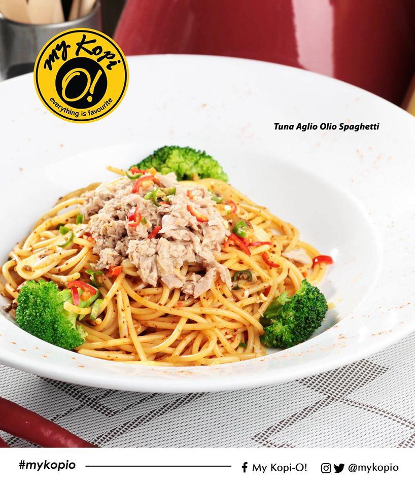 Tuna Aglia Aglio Spaghetti